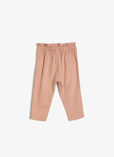 Koton Kids Fırfır Detaylı Pantolon Pembe